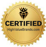 Certified by HighValueBrands.com